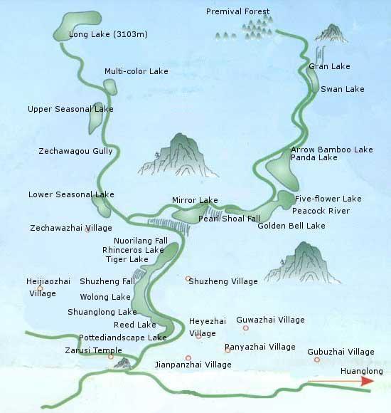карта цзючжайгоу
