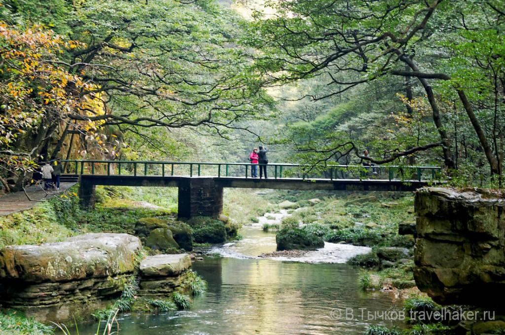мост в чжанцзяцзе на маршруте золотой кнут