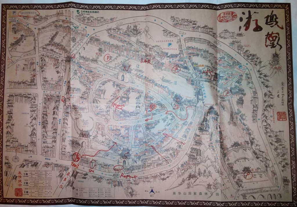 карта фенгхуанг китай