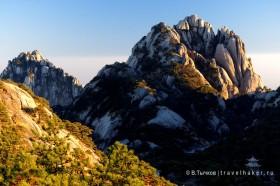 фото хуаншань закат в горах