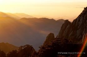 фото в горах хуаншань рассвет