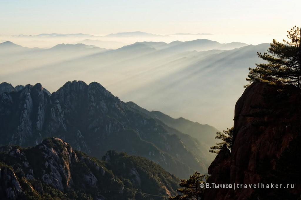 желтые горы хуаншань китай