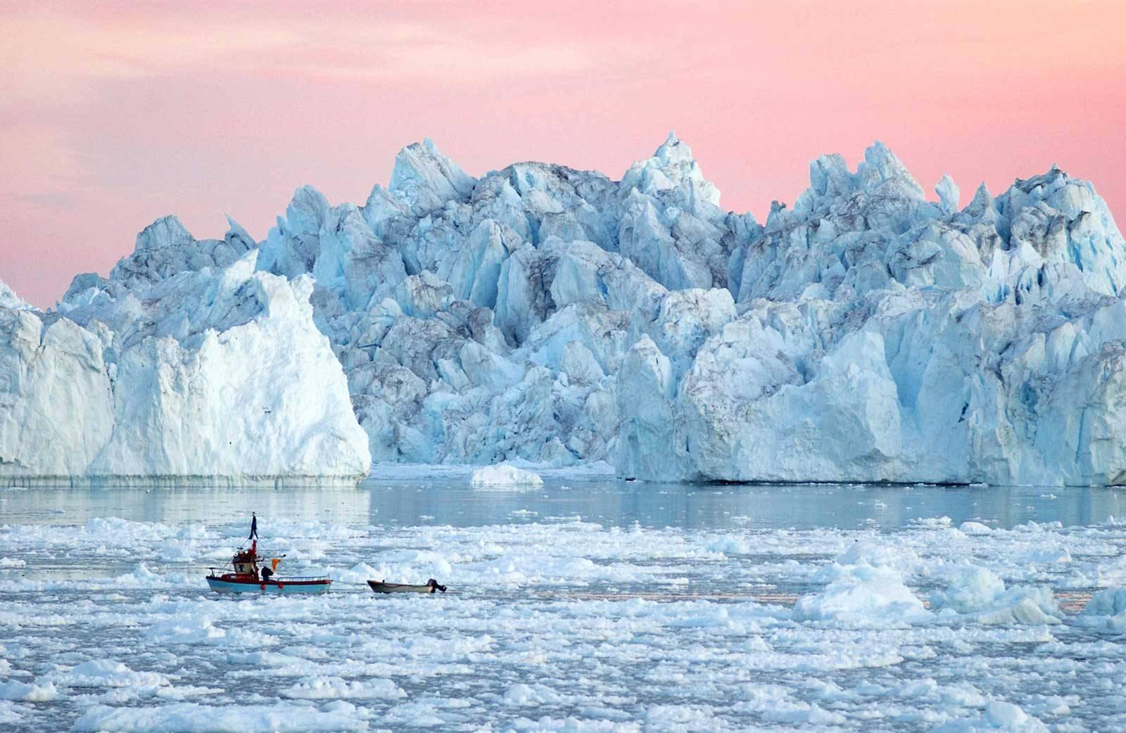Айсберги в Илулиссат, Гренландия