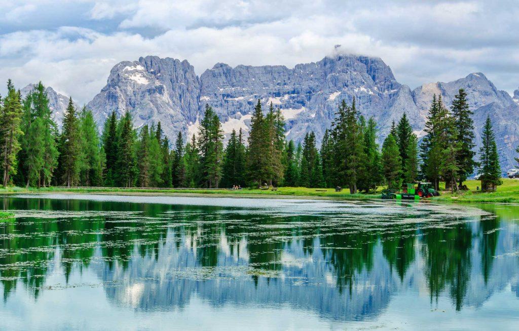 озеро мизурина италия доломиты тур треккинг