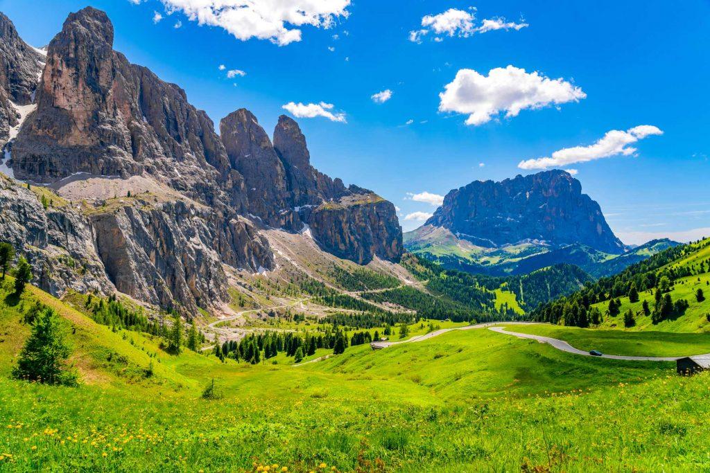 перевал гардена доломиты италия тур треккинг