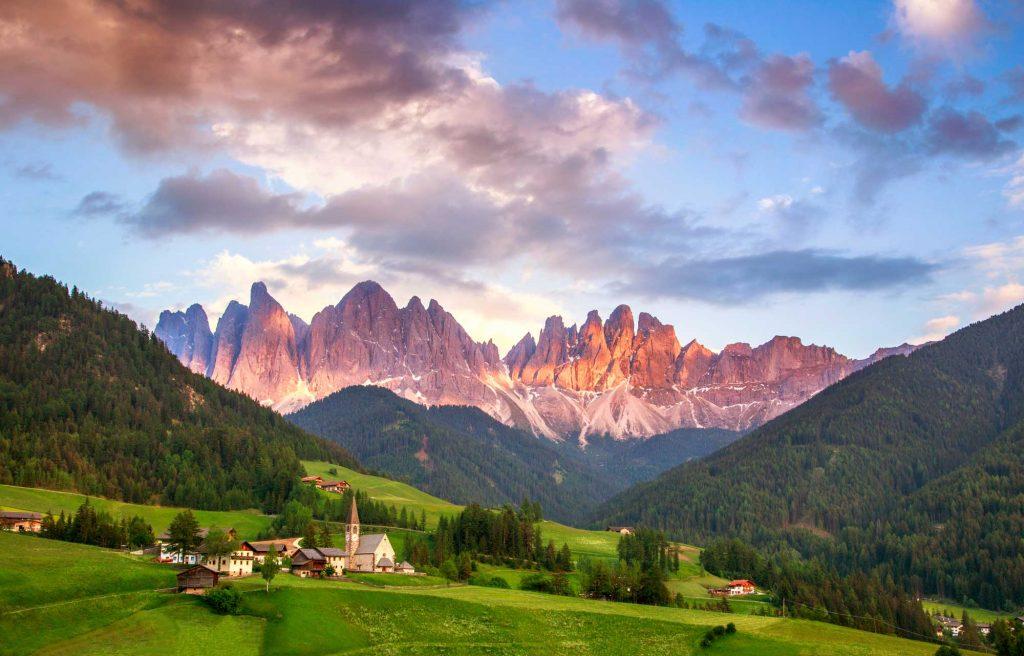 санта маддалена доломиты италия тур треккинг