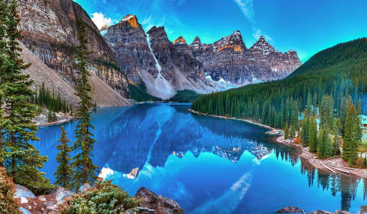 тур в канаду рассвет на озере морейн