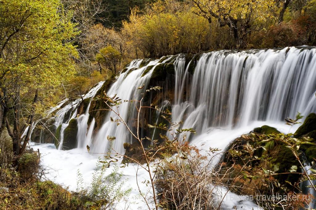 Цзючжайгоу долина водопад Шушенг