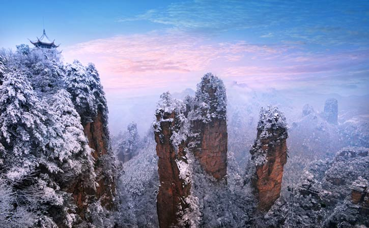 зима в чжанцзяцзе