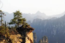 закат в чжанцзяцзе заповеднике юаньчжачже китай