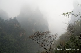 туман и парящие горы фото чжанцзяцзе китай
