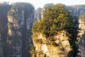 фото закат в горах парка чжанцзяцзе